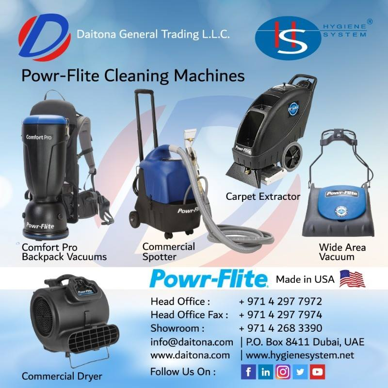 POWR-FLITE New Range of Cleaning Machines from Daitona