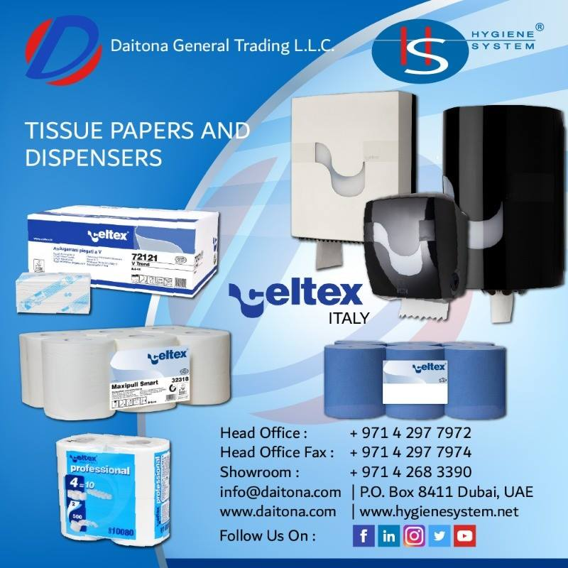 Celtex Italy Tissue Papers and Dispensers from Daitona