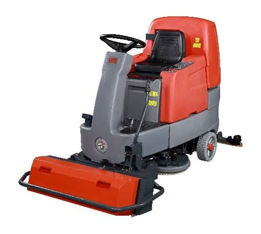 Ride On Scrubber Drier With Pre Sweeper
